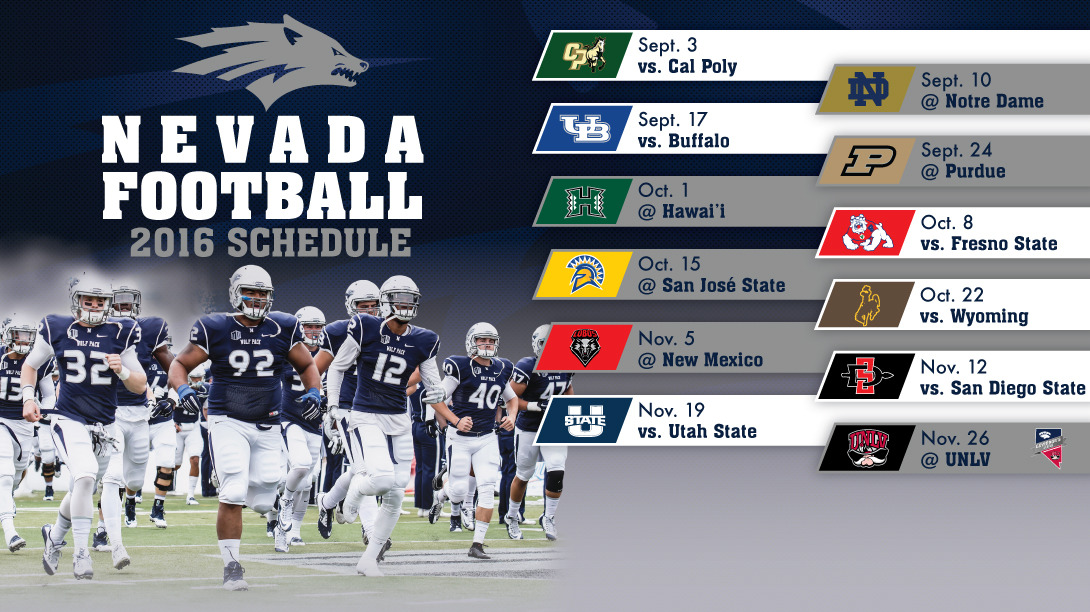 Wolf Pack Unveils 2016 Football Schedule University Of Nevada Athletics