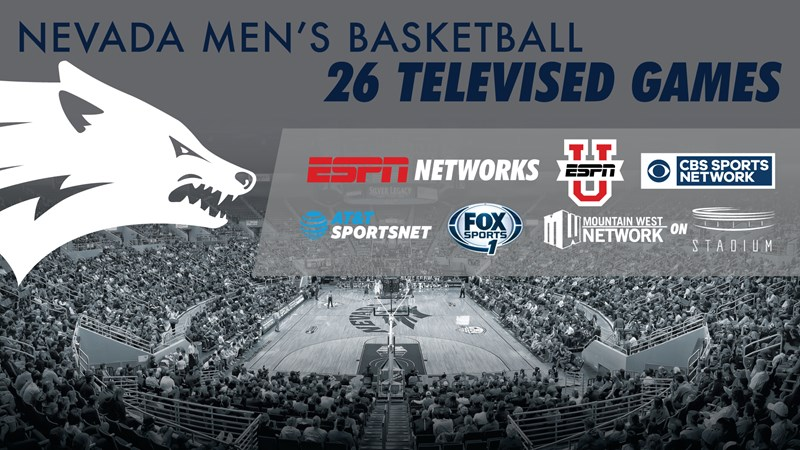 Nevada to make 26 national television appearances in 2017-18