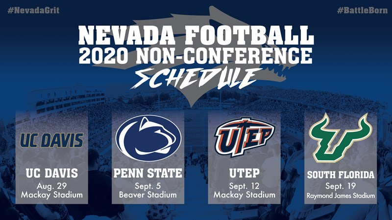 Unr Football Schedule 2020 Wolf Pack adds Penn State and UC Davis to 2020 football schedule