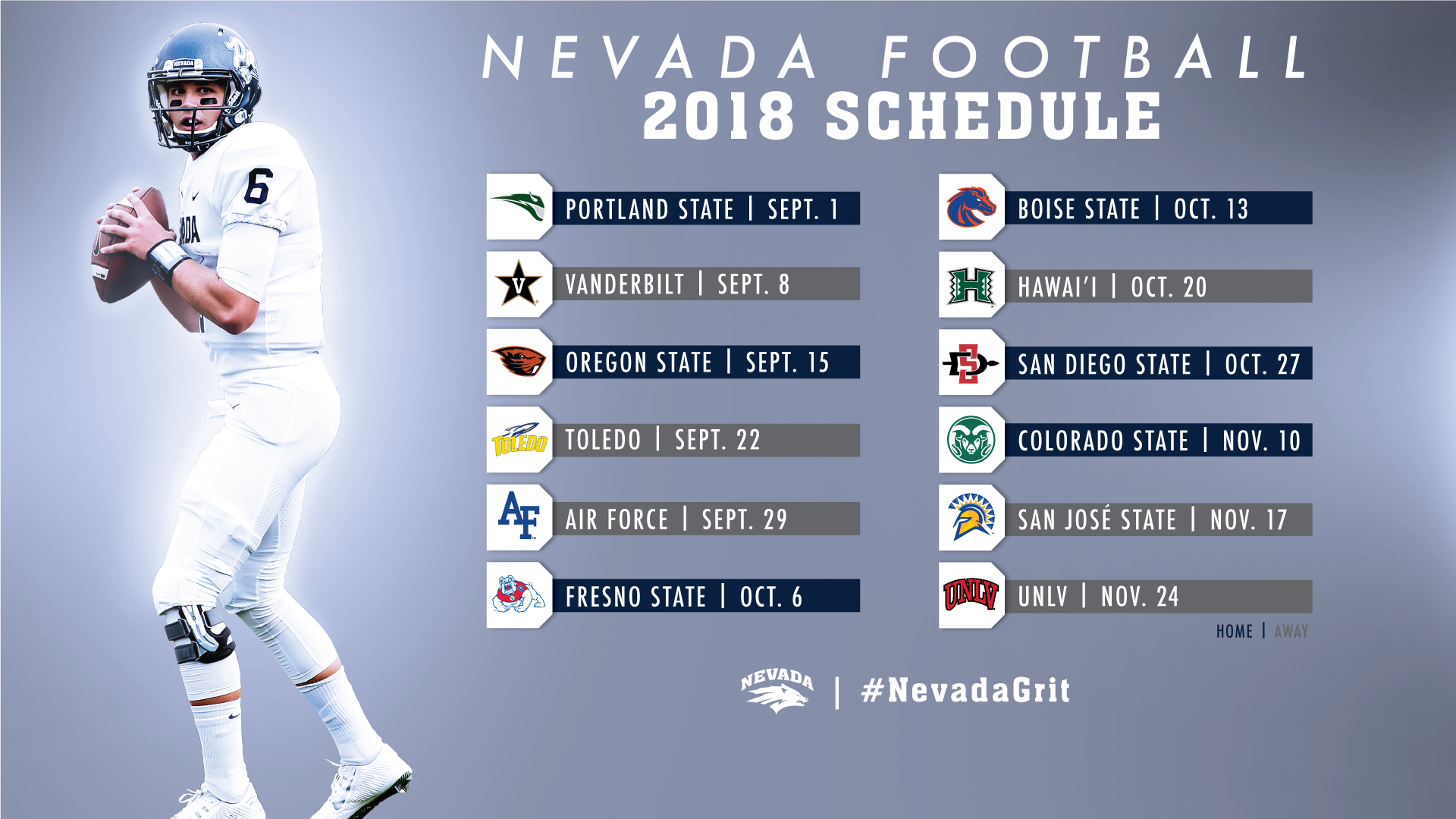 The 2018 Nevada football schedule is here!   University of Nevada