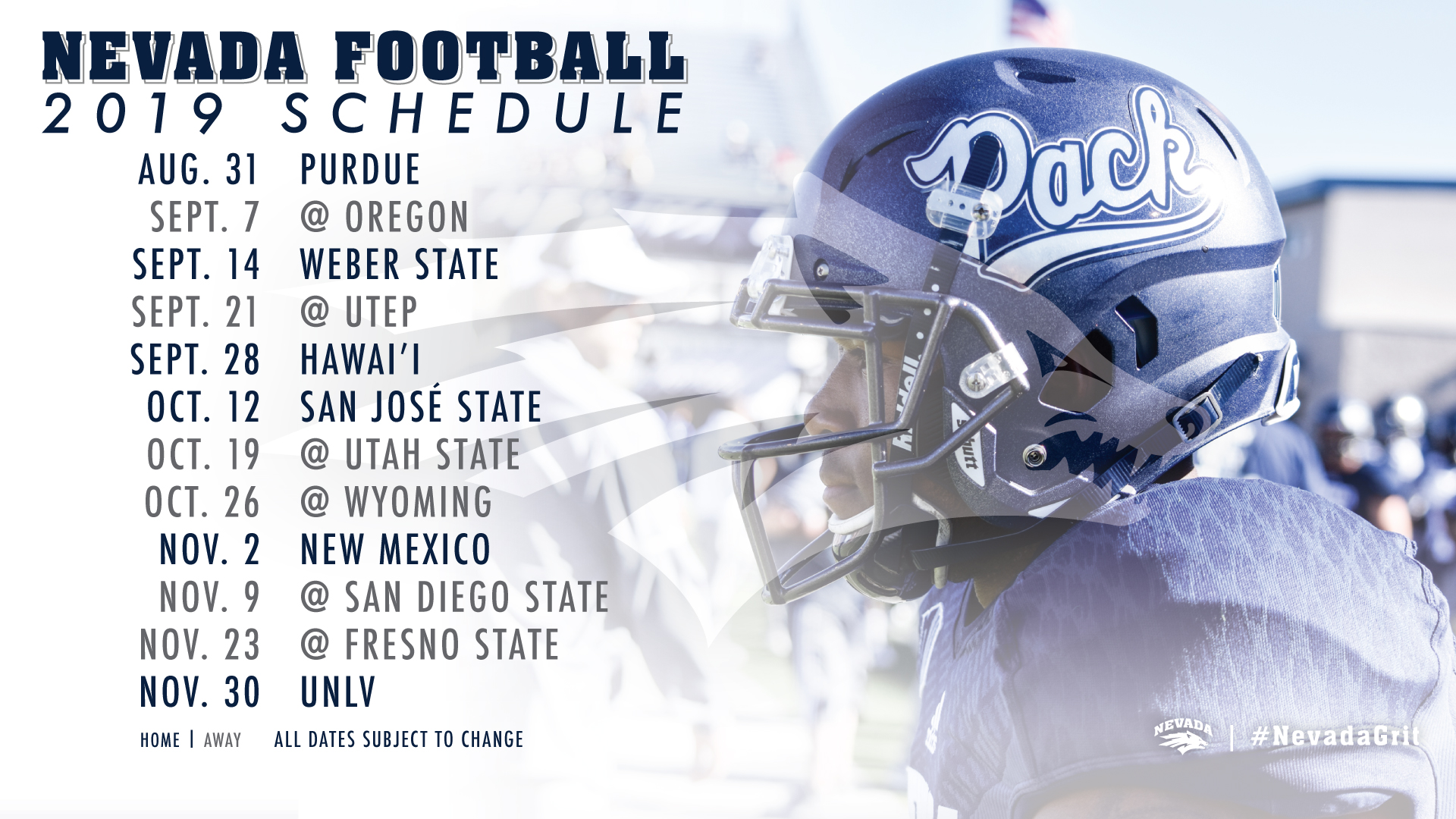 The 2019 Nevada Football Schedule Is Here University Of Nevada