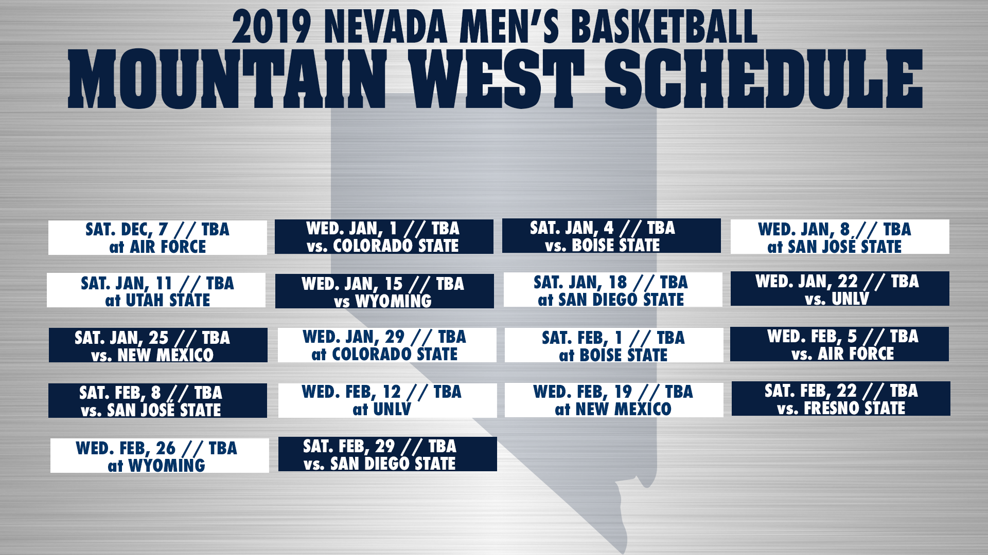Mountain West men's basketball schedule announced - University of